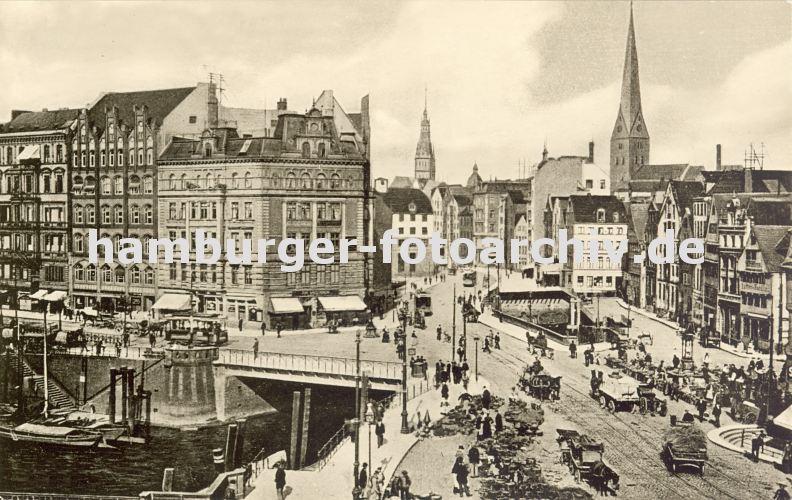 alte fotografie von der altstadt hamburgs messberg dovenfleet klingberg hamburger. Black Bedroom Furniture Sets. Home Design Ideas