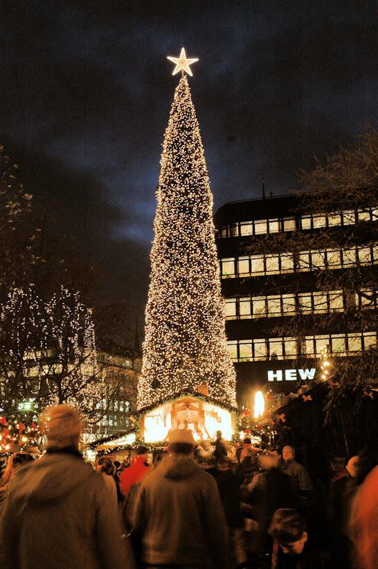 Hamburg Tannenbaum.4999 0450 Beleuchteter Weihnachtsbaum Tannenbaum Mit Lichterketten