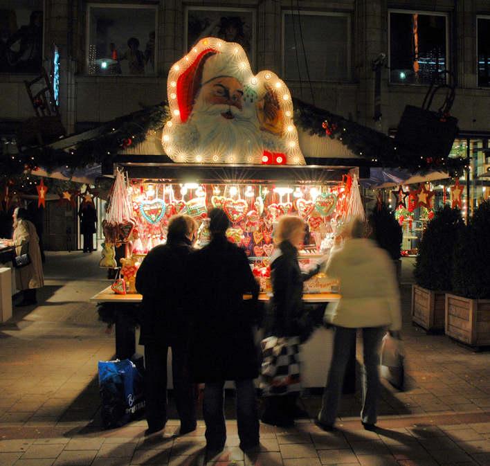 5179 0135 Marktstand Auf Einem Weihnachtsmarkt Kopf
