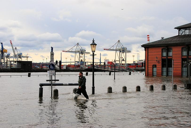 Fischmarkt Hochwasser