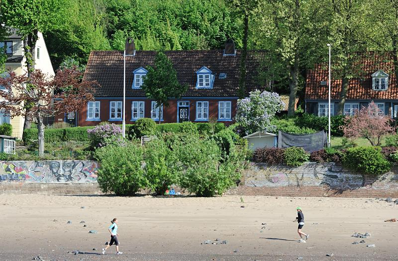 181_3479 Elbufer in Hamburg Othmarschen - Strand von