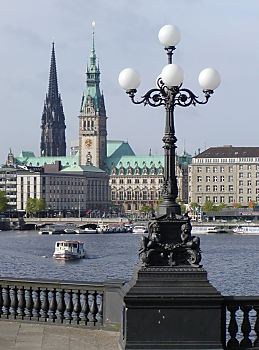 fotos hamburg bilder von der alster binnenalster. Black Bedroom Furniture Sets. Home Design Ideas