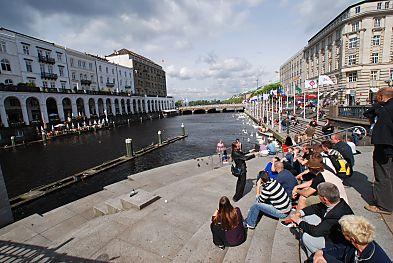 Touristen Hamburg