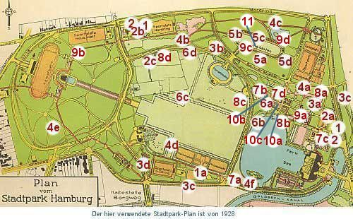 Stadtpark Hamburg Plan